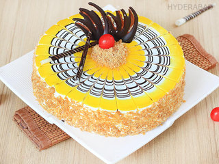 Order Spongy Creamy Butterscotch Cake in Hyderabad