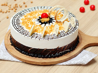 Round Shaped Crunchy Butterscotch Cake in Delhi