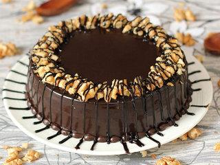Zoom View of Choco Walnut Cake