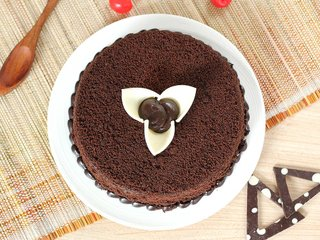 Top view of Round Shaped Chocolate Cake