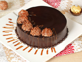 Round Dark Chocolate N Ferrero Rochers
