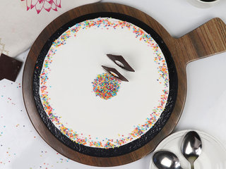 Top View of Sprinkled Adventure - A Vanilla Cake