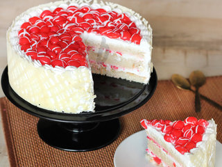 Sliced View of Royal Cherry Cake