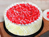 Zoomed View of Royal Cherry Cake