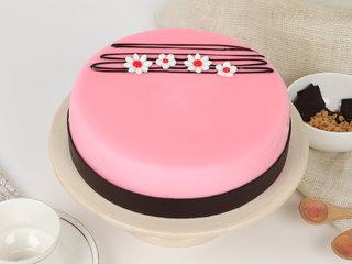 Round Strawberry Cream Cake