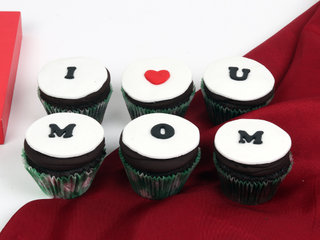 Set Of 6 Chocolate Cupcakes For Mom