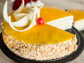 Zoom View of Mango Cake