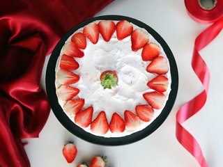 Top View of Strawberry Blush Cake
