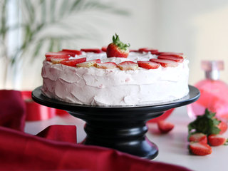 Side View of Strawberry Blush Cake