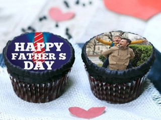 Luscious Fathers Day Photo Cupcakes
