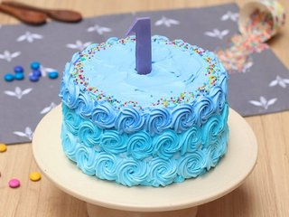 Number One Cake for First Birthday and Anniversary