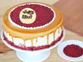 Red Velvet Rhapsody Cake For Rakshabandhan