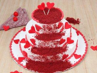 Radient Emotion - 3 Tier Red Velvet Cake