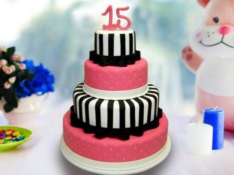 4 Tier Designer Party Cake