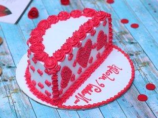 Half Theme Cake for 6 Month Anniversary