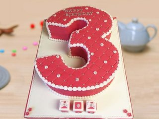 Number 3 Cake