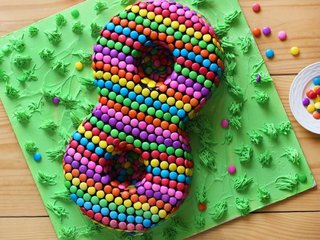 Number Theme Cake For 8th Birthday of Kid