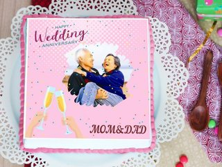 Personalised Wedding Anniversary Cake