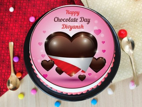 A photo cake for chocolate day