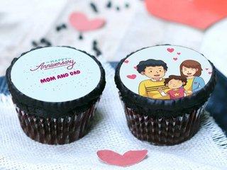 Anniversary Mom Dad Cupcakes
