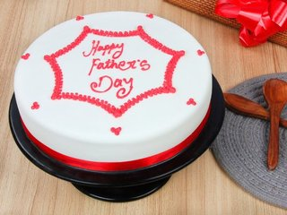 Fathers Day Fondant Cake - Order for Same Day Delivery