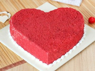 Heart Shaped Red Velvet Cake - Order Now