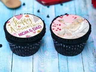 Set of 2 Anniversary Cupcakes