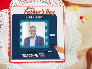 Fathers Day Photo Cake - Order Now
