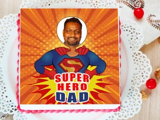 super hero dad photo cake