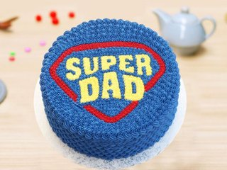 Round Shaped Super Dad Cake