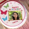 Colourful Butterfly Photo Cake For Girl