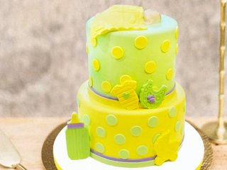Two Tier Baby Shower Cake for Boy and Girl