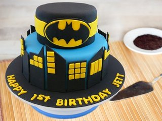 Batman Theme Cake For Birthday Boy
