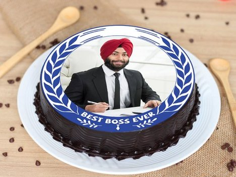 Photo Cake for Boss