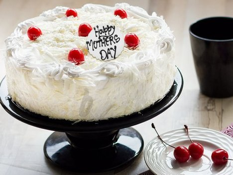 White Forest Cake For Mothers Day