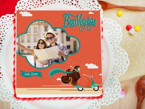 Bon Voyage Photo Cake