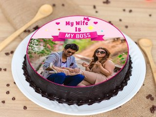 Boss Wife Photo Cake