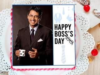 Happy Boss Day Photo Cake