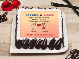 Brother Sister Poster Cake