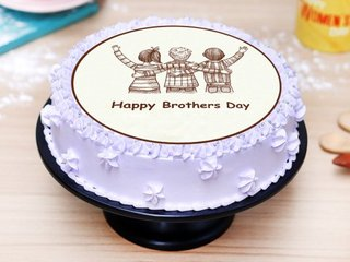 Brothers Day Poster Cake