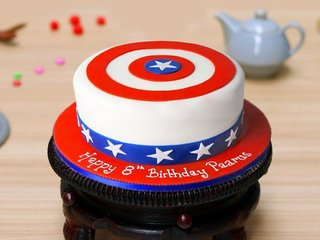Captain America Theme Cake