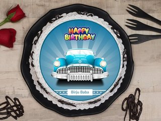 Car Birthday Poster Cake