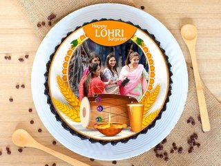 Lohri Photo Cake