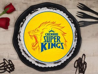 Chennai Super Kings Poster Cake