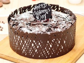 Childrens Day Black Forest Cake