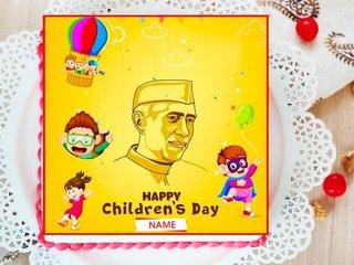 Childrens Day Chacha Nehru Poster Cake
