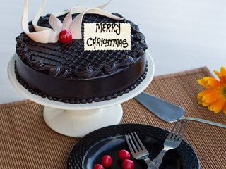 Choco Truffle Christmas Cake
