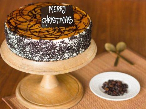 Coffee Mocha Christmas Cake