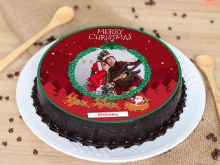 Photo Cake for Christmas