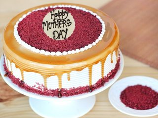 Red Velvet Choco Coffee Cake For Mothers Day Celebration